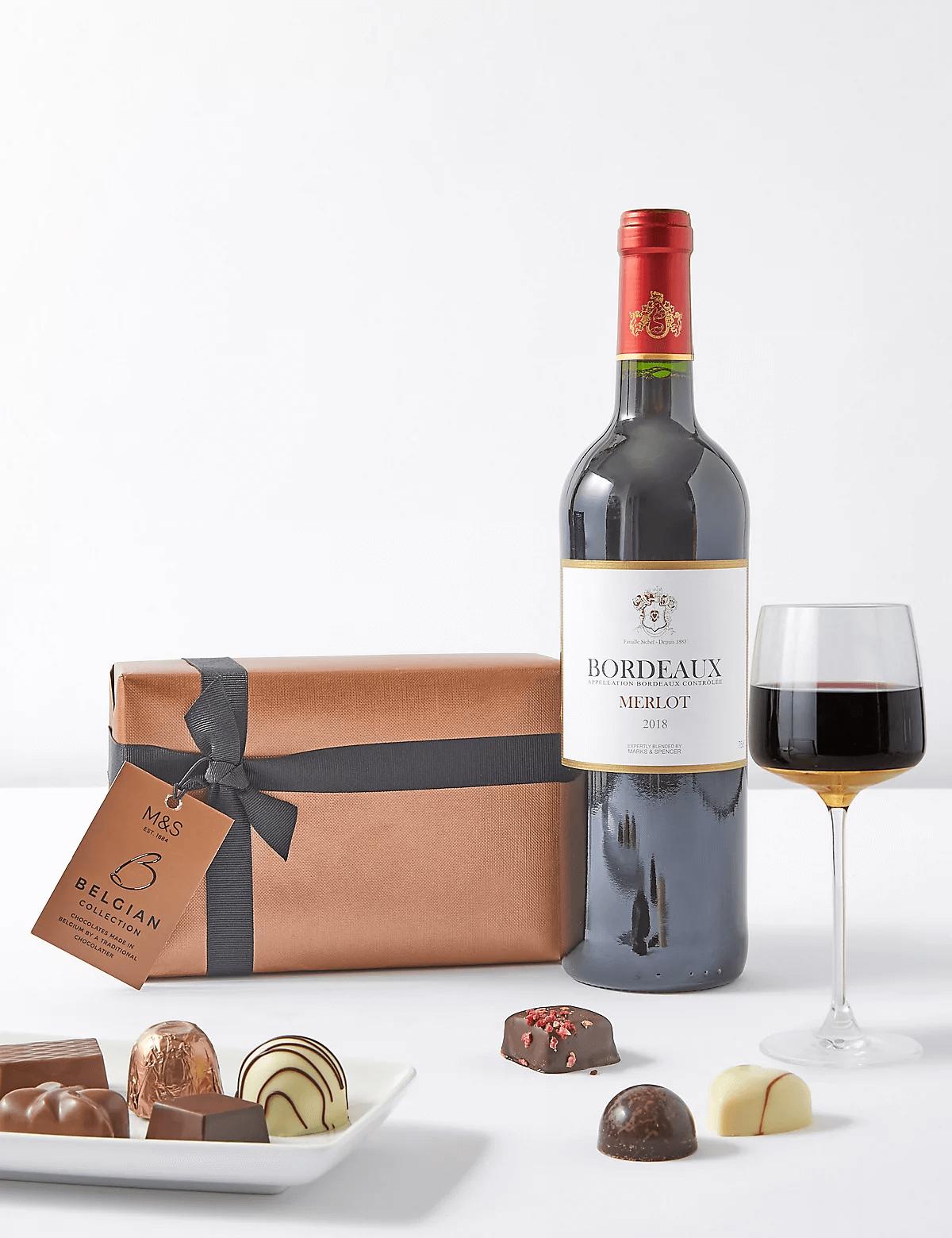 Vinho Merlot & Chocolate Belga